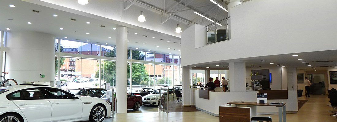 BMW Showroom Plastering