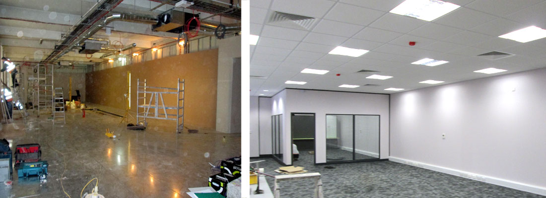 office and commercial plastering